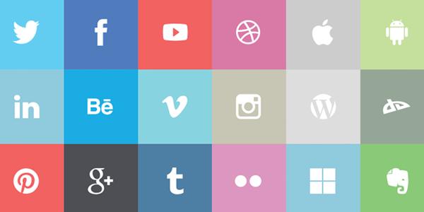 flat-social-icons