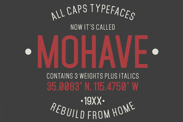 free-font-mohave