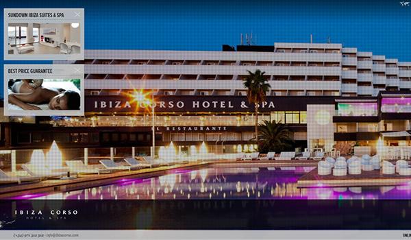 Inspiring hotel and resort website design web design beat - Corso hotel ibiza ...