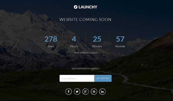 launchy-coming-soon-template