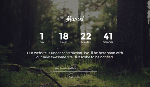 muriel-coming-soon-template
