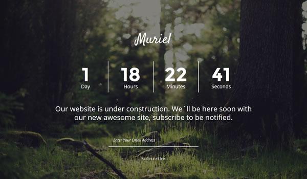 muriel-coming-soon-template