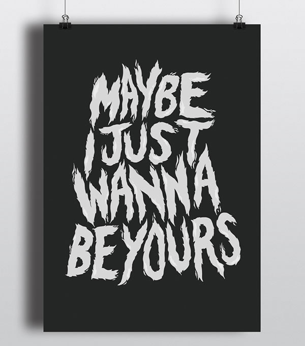 be-yours-lettering-poster