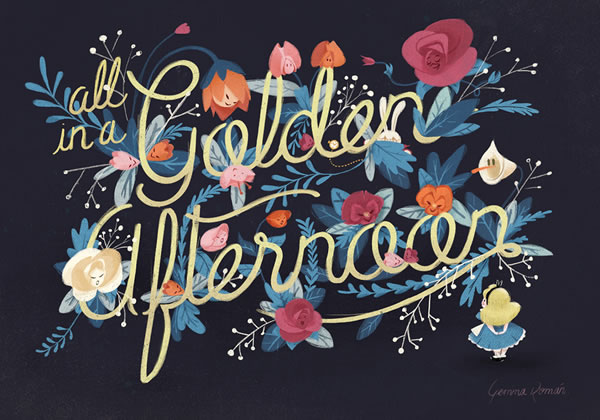 golden-afternoon-lettering-poster