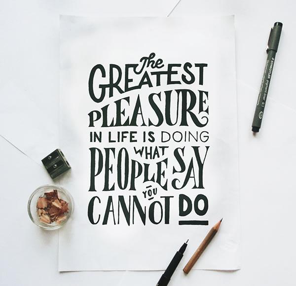 greatest-pleasure-lettering-poster