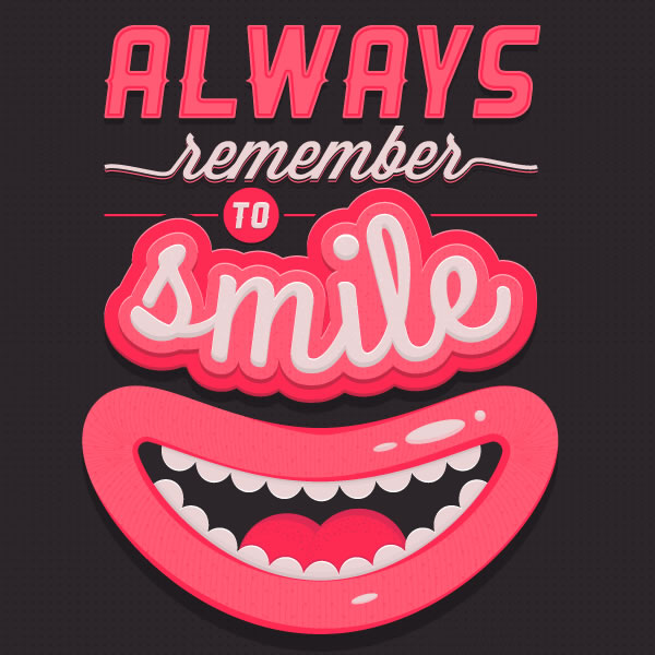 smile-typography-poster