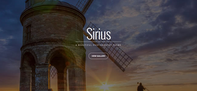 sirius-wordpress-photography-theme