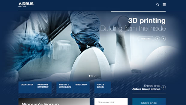 airbus-group-website-design