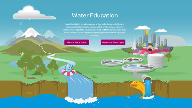 water-education-website-design