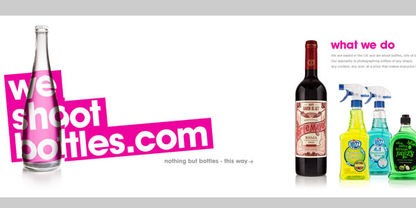 bottles-website-design