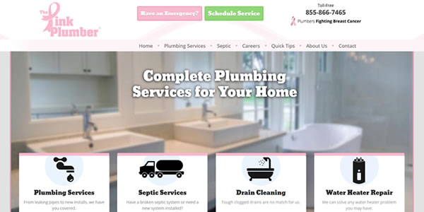 pink-plumber-message-website-design
