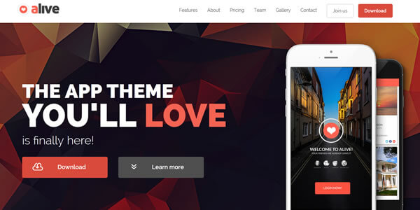 alive-bootstrap-landing-page