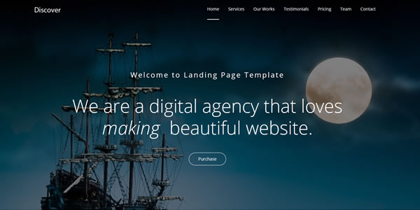 discover-bootstrap-landing-page