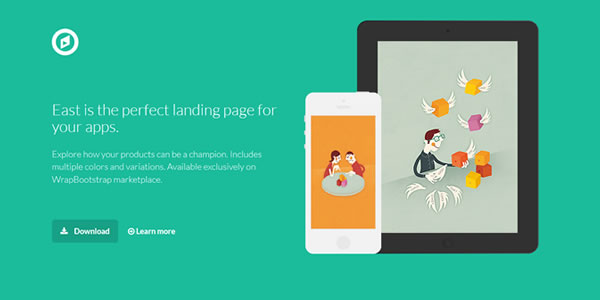 east-bootstrap-landing-page