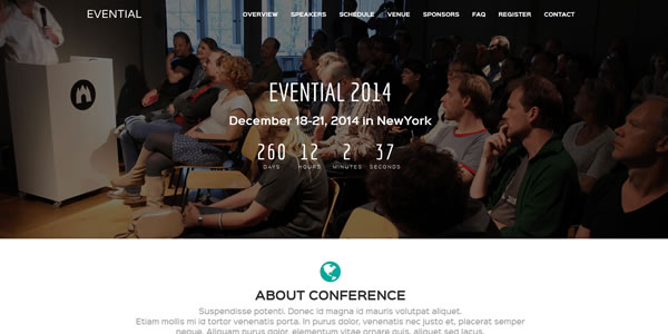 evential-bootstrap-landing-page