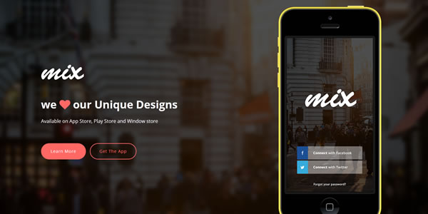 mix-bootstrap-landing-page