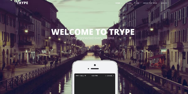 trype-bootstrap-landing-page