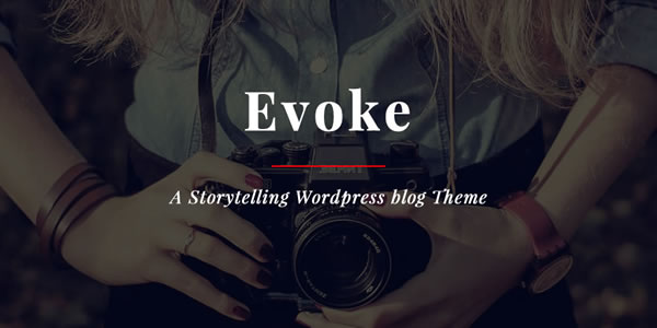 Evoke – Photo Stories WordPress Blog Theme