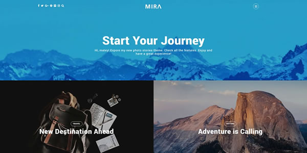 Mira – A WordPress Theme for Photo, Travel Bloggers