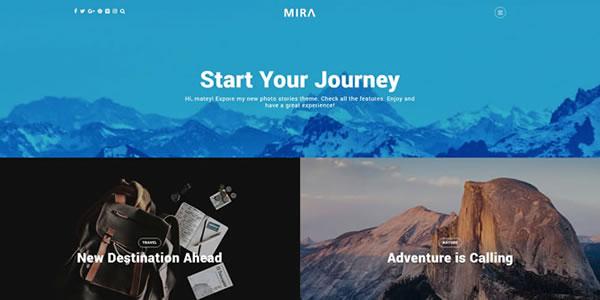 Mira – A WordPress Theme for Photo, Travel Bloggers