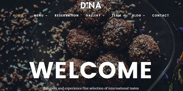 Restaurant, Food, Drink, Cafe, Bistro, Bar HTML Template – Dina