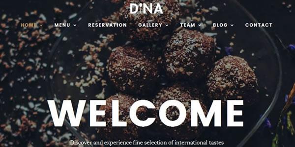 Restaurant, Food, Drink, Cafe, Bistro, Bar HTML Template – Dina