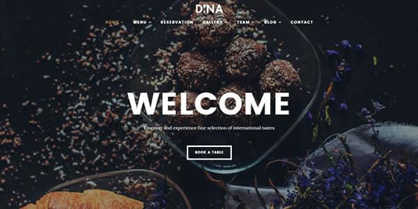 Dina Restaurant Cafe WordPress Theme